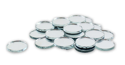 0.75 inch Small Mini Round Craft Mirrors 25 Pieces Mirror Mosaic Tiles - artcovecrafts.com