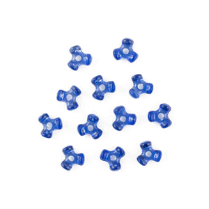 11 mm Acrylic Dark Blue Tri Beads Bulk 1,000 Pieces - artcovecrafts.com