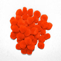 0.5 inch Orange Tiny Craft Pom Poms 100 Pieces - artcovecrafts.com