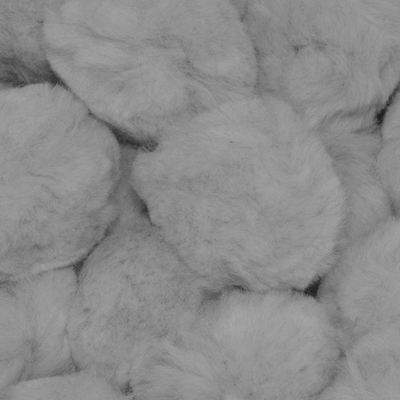 1.5 inch Grey Craft Pom Poms 50 Pieces - artcovecrafts.com