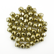 3/8 Inch 10mm Gold Small Craft Jingle Bells Charms Bulk 100 Pieces - artcovecrafts.com