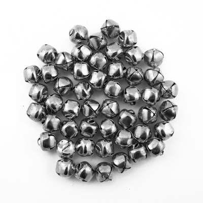 3/8 Inch 10mm Small Tiny Silver Craft Jingle Bells Charms Bulk 100 Pieces - artcovecrafts.com