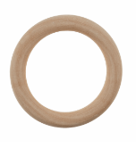 Craft Ring: Wooden: Round: 7cm Diameter TRH22