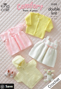 Double knit crochet pattern 3152