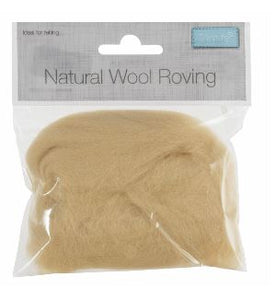 Natural Wool Roving 10g Cream 309