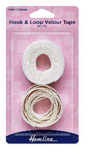 Hook & Loop Tape: Sew-On: Value Pack: 1.25m x 20mm: White