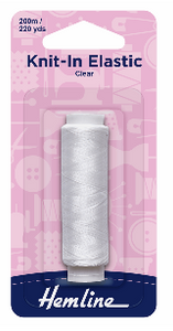 Knit-In Elastic CLEAR 200m