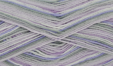 King Cole Big Value Baby 4ply Print 100g Lilac Haze 2575
