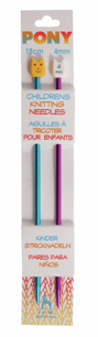 Pony Children's Knitting Needles 4mm (length 18cm)
