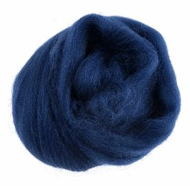 Natural Wool Roving 10g Sapphire 314