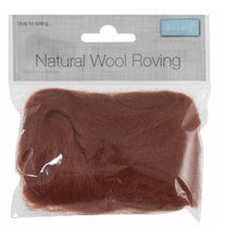 Load image into Gallery viewer, Natural Wool Roving 10g Sienna 310