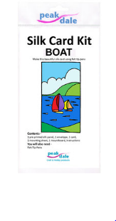 Silk card making - Boats