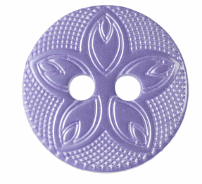 G418520\11 Etched Flower Button: 20 lignes/12mm: Lilac