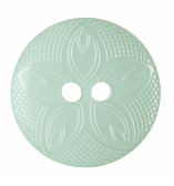 Etched Flower Button: 18mm: Pale Green G418528\21