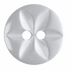 G203222\1: Polyester Star Button: 22 lignes/14mm: White