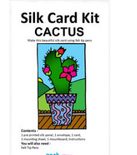 Silk card making - cactus
