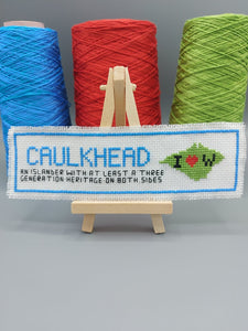 Caulkhead cross stitch Bookmark kit