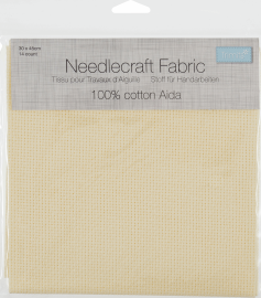 Needlecraft Fabric: Aida: 14 Count: 30 x 45cm: Cream