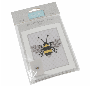 Cross stitch greetings card Kit        Bee     GCS20