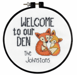 Learn-a-Craft: Counted Cross Stitch Kit with Hoop: Our Den