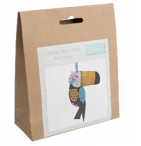 Make your own felt decoration   Toucan  GCK056