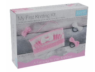 My First Knitting Kit:    Clutch Bag & Hairbands       CF127