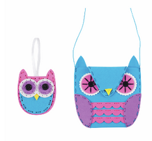 Load image into Gallery viewer, My First Sewing Kit:       Owl Handbag & Charm              CF128