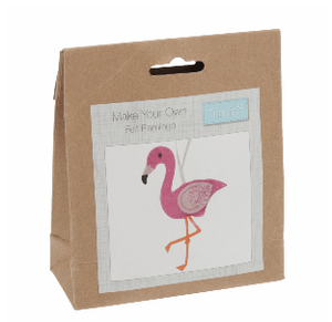 Make your own felt decoration   Flamingo  GCK035