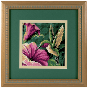 Needlepoint. Hummingbird Drama 7210
