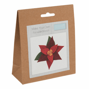 Make your own felt decoration   Felt kit.  Poinsettia brooch