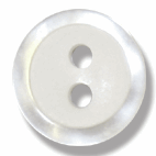 Pearl white Button:11mm: Pearl White G217518
