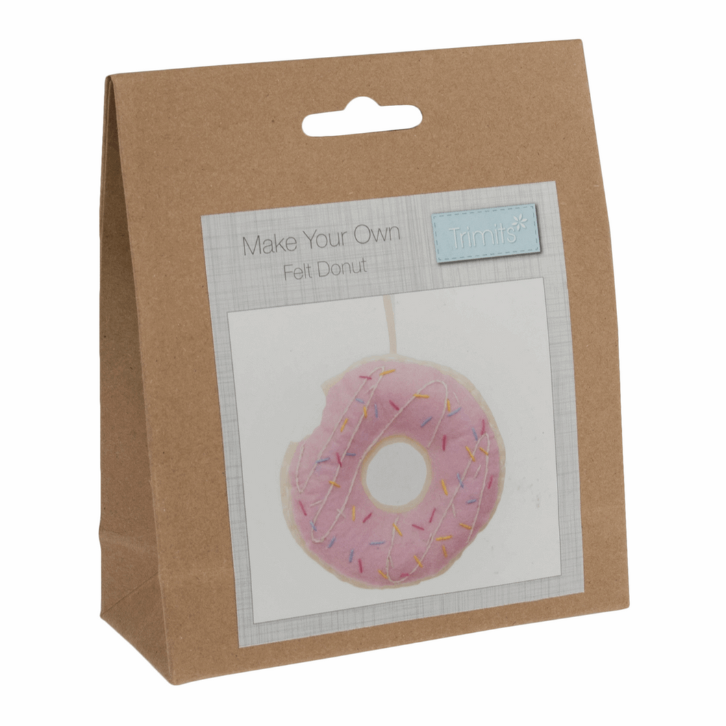 Make your own felt decoration   Felt kit doughnut