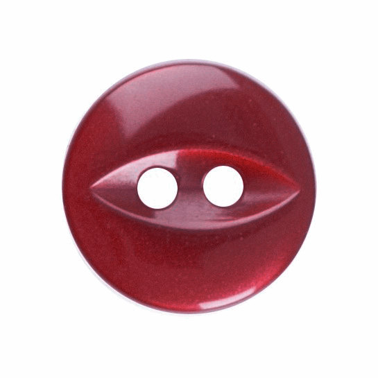 Fish Eye Button: 11mm: Dark Pink/Red G033918\07