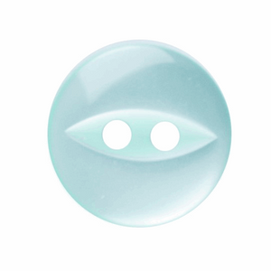 Polyester Fish Eye Button: 11mm: Turquoise G033918\35