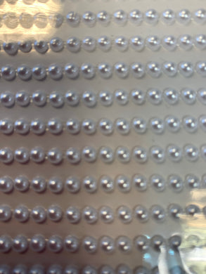 Adhesive backed gems 3mm white pearl