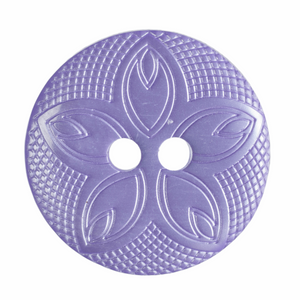 Etched Flower Button: 18mm: Lilac: G418528\11