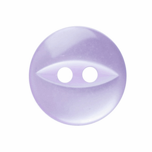 Polyester Fish Eye Button: 11mm: Lilac G033918\11