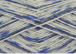 King Cole Zig Zag 4ply Sock Yarn 100g Wedgwood 3410