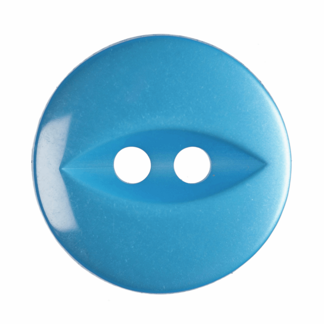 Fish Eye Button: 14mm: Bright Blue G033922\16