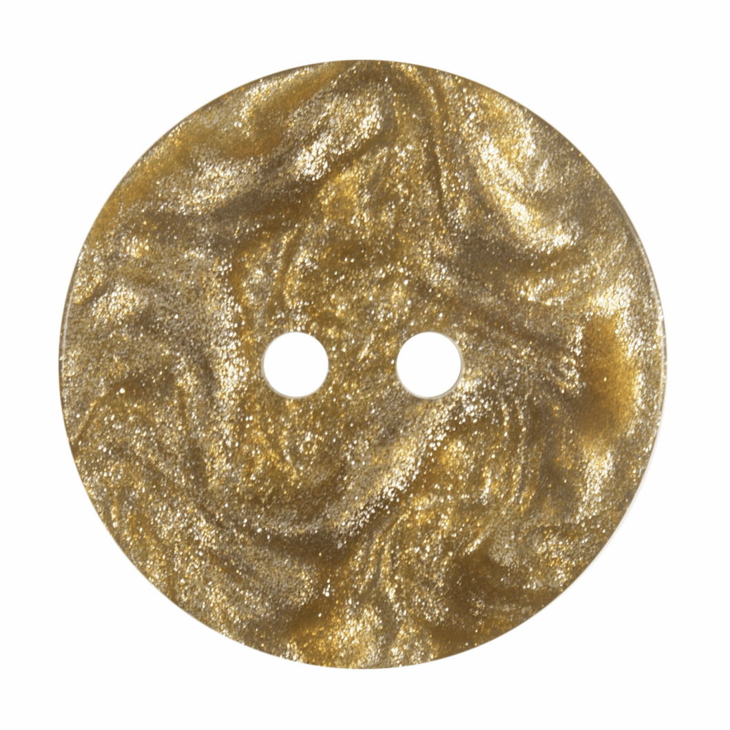 Gold Metallic Shimmer Button: 22mm: Dark Gold. G455822