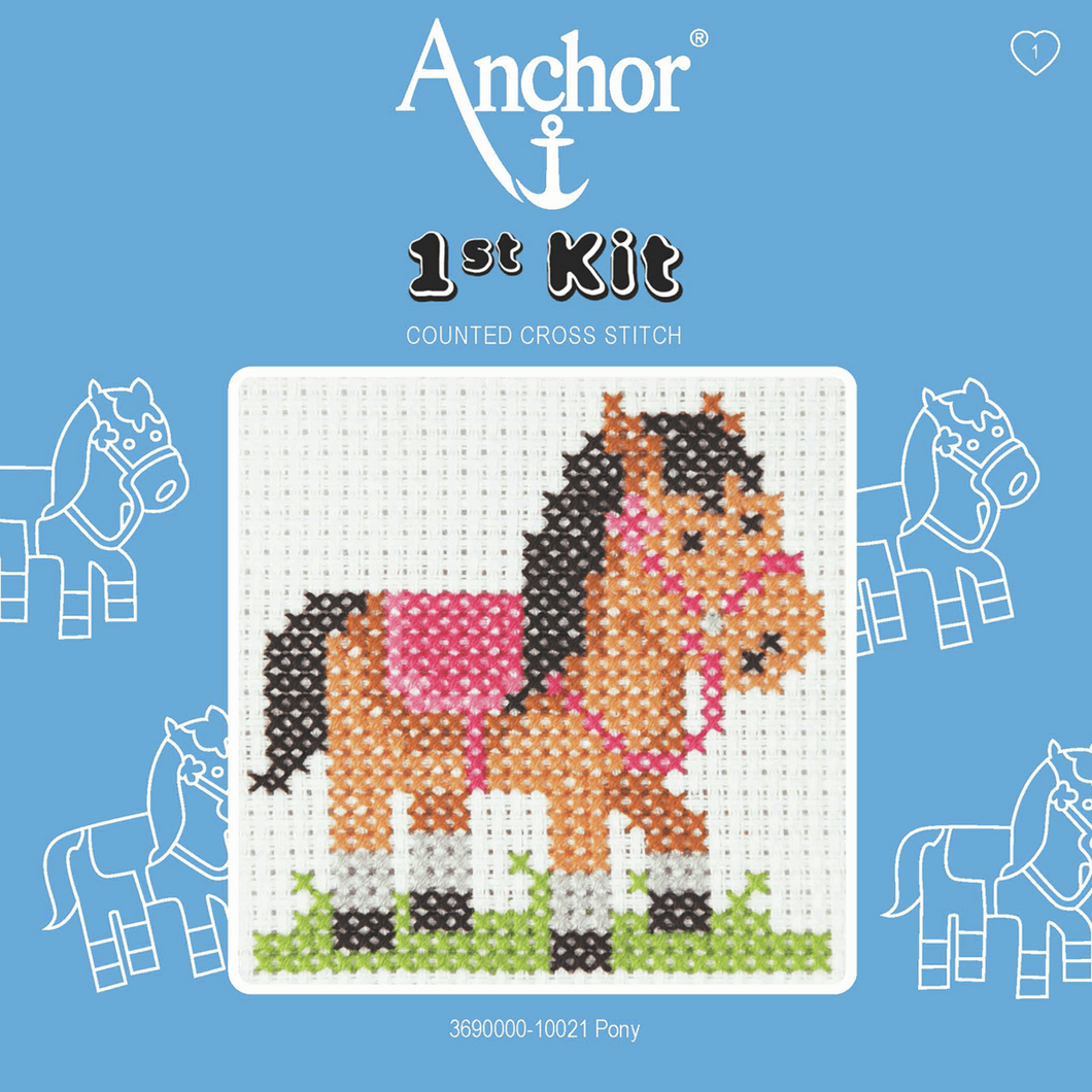 My first cross stitch - Pony 10021