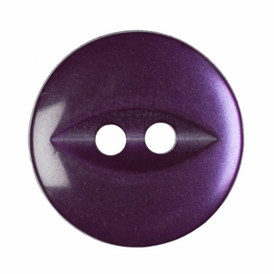 Polyester Fish Eye Button: 14mm: Purple G033922\14