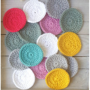 Cotton makeup remover scrubbies x10
