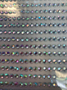 Adhesive backed gems 3mm iridescent