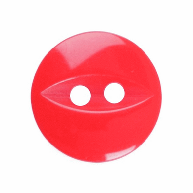 Fish Eye Button: 11mm: solid Red G033918\108