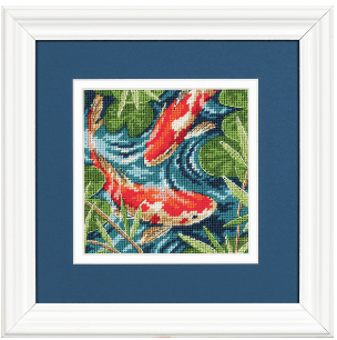 Needlepoint. Koi Pond 7214