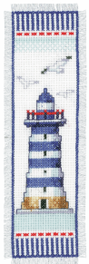 Counted Cross Stitch Kit: Bookmark: Lighthouse