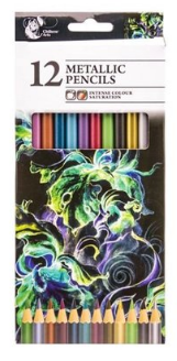 Metallic pencils. 12 pack