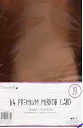 Dovecraft Essentials A4 Mirror Card - Rose Gold -10 Sheets