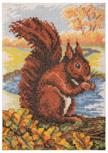 Counted Cross Stitch Kit: Essentials: Red Squirrel